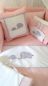 Babybugs 100 percent Cotton - Custom Baby and Kids Linen and Decor - Baby Cot Set Linen Baby Girl